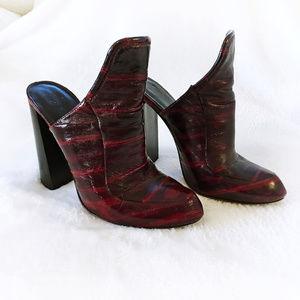 Alexander Wang Eel Bette Mules Size 39 Dark Red